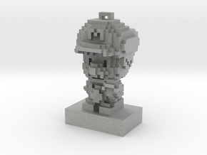 Super Plumber Red Bro Custom Voxel Ornament in Metallic Plastic
