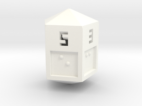 Braille D5 in White Strong & Flexible Polished