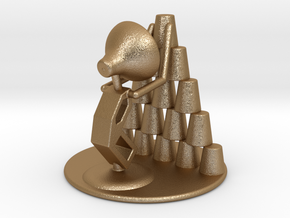 """Juju """"Playing with cups""""  - DeskToys in Matte Gold Steel"""