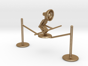 "Lala ""Walking on rope"" - DeskToys in Matte Gold Steel"
