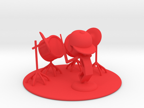 "Lala ""Trying Drums"" - DeskToys in Red Strong & Flexible Polished"