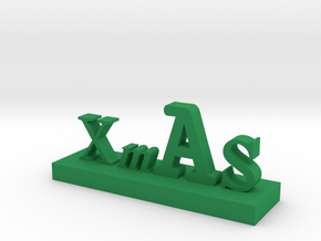 XMAS Letter 3 in Green Strong & Flexible Polished