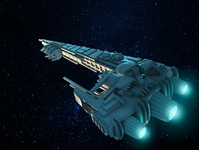 Scumfleet Ship Destroyer in Frosted Ultra Detail