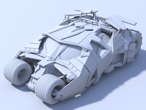 Batman - Tumbler Car [1/48 & Hollow] in White Strong & Flexible