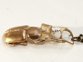Stag Beetle with Closed Jaws -- pendant in Raw Bronze