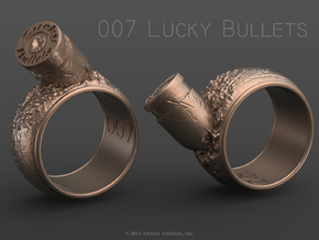 007 Lucky Bullets -Size 6 in Raw Brass