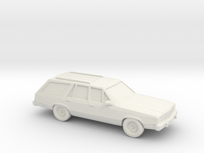 1/87 1978-83 Ford Fairmont Station Wagon in White Strong & Flexible