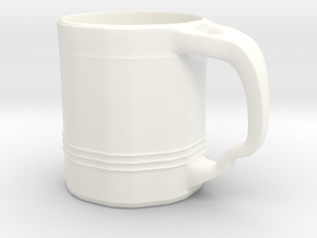 Tri Line Mug  in White Strong & Flexible Polished
