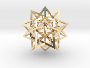 Great Rhombic Triacontahedron in 14k Gold Plated
