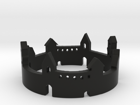 Walled Town Ring in Black Strong & Flexible