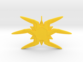 Six-Winged Seraphim Ornament in Yellow Strong & Flexible Polished