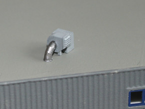 N Scale 3x Rooftop Fan #1 in Frosted Ultra Detail