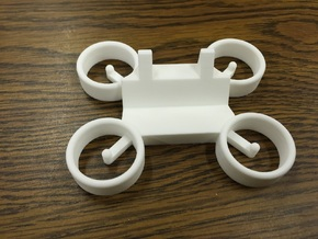Drone Business Card Holder in White Strong & Flexible Polished