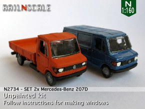 SET 2x Mercedes-Benz 207D (N 1:160) in Frosted Ultra Detail
