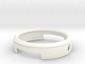 Moto360(1st generation) BUMPER in White Strong & Flexible Polished