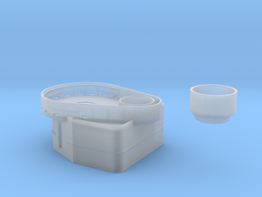 Fletcher-class Tear Drop Gun Tub Version 1 in Frosted Extreme Detail