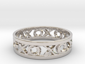 Size 6 Xoxo Ring in Rhodium Plated