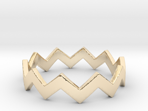 Zig Zag Wave Stackable Ring Size 7 in 14K Gold