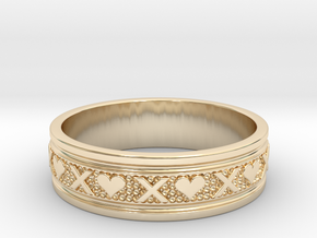 Size 13 Xoxo Ring B in 14k Gold Plated