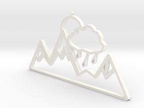 Moutains Pendant by it's a CYN! in White Strong & Flexible Polished