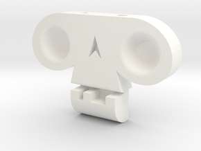 Skull by  it's a CYN! in White Strong & Flexible Polished