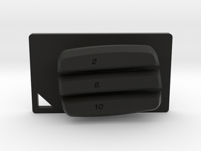 Nyth Horizontal Buttons in Black Strong & Flexible