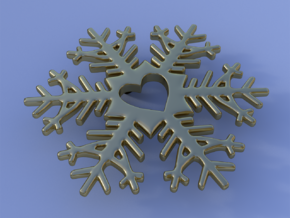 Snow heart in 14K Gold