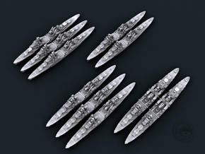 1/4800 UK Town Class Light Cruisers in Frosted Ultra Detail