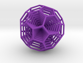 0377 8-Grid Truncated Icosahedron #All (5.0 cm) in Purple Strong & Flexible Polished