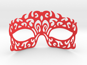 Masquerade mask in Red Strong & Flexible Polished