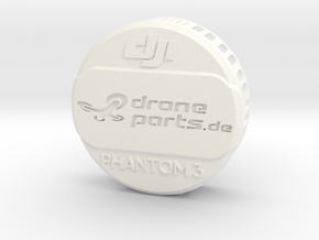 Phantom 3 Linsen Abdeckung / Schutz in White Strong & Flexible Polished
