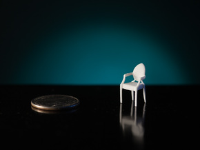 1:48 Philippe Starck Louis Ghost Chair in White Strong & Flexible