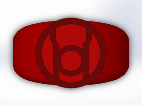 Red Lantern Ring in Full Color Sandstone