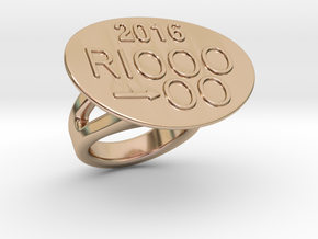 Rio 2016 Ring 21 - Italian Size 21 in 14k Rose Gold Plated