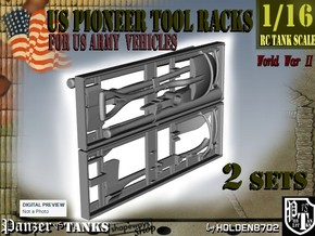 1-16 US Pioneer Tool Rack in White Strong & Flexible