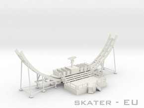 Skater Fahrweg EU - 1:87 (H0 scale) in White Strong & Flexible