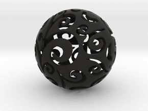 Christmas ball Ornament in Black Strong & Flexible