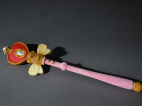 Sailor Moon Spiral Heart Rod 9.3in in White Strong & Flexible
