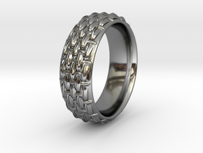 SCALES NARROW RING SIZE 11 in Premium Silver