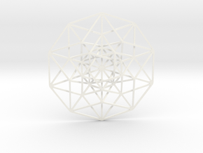 5D Hypercube in White Strong & Flexible Polished