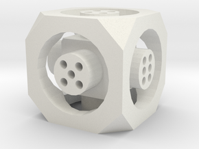 Floating Die (d6) in White Strong & Flexible
