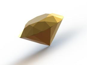 """Couture"" 1 carat brilliant cut diamond in Polished Gold Steel"