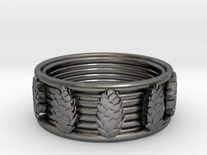 Cones Ring, size 11 in Polished Nickel Steel