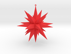 Christmas Star  in Red Strong & Flexible Polished