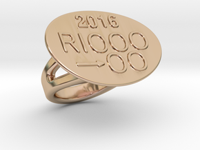 Rio 2016 Ring 24 – Italian Size 24 in 14k Rose Gold Plated