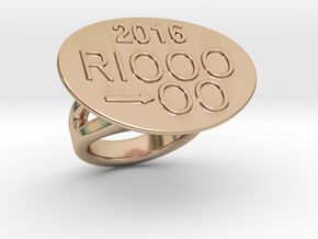 Rio 2016 Ring 26 – Italian Size 26 in 14k Rose Gold Plated