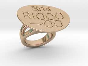 Rio 2016 Ring 27 – Italian Size 27 in 14k Rose Gold Plated