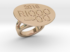 Rio 2016 Ring 31 - Italian Size 31 in 14k Rose Gold Plated