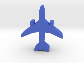 Game Piece, Airliner With 2 Engines in Blue Strong & Flexible Polished