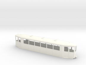 OEG Spitzmausbeiwagen Chassis in White Strong & Flexible Polished